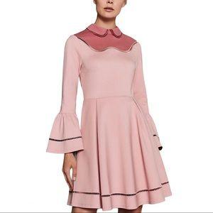 Ted Baker Pippiy Ladder Lace Pink Skater Dress, 8